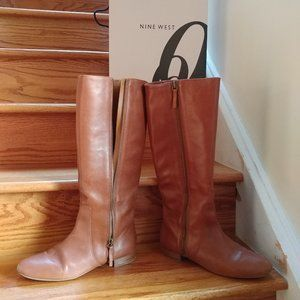 Cognac Knee-High Boots